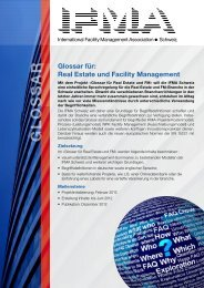 Weitere Informationen im Projekt-Flyer - IFMA Schweiz
