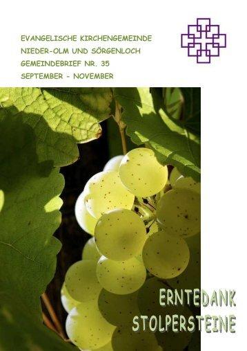 Gemeindebrief Nr. 35 September bis November 2012