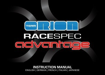 INSTRUCTION MANUAL - Team ORION JAPAN
