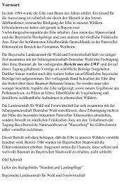 Vorwort - Bayerische Landesanstalt für Wald und Forstwirtschaft ...