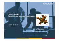 Moog GmbH Produktlinie Radialkolbenpumpe Kick off ... - INDINA