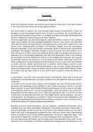 Hausarbeit - Lehrstuhl Prof. Dr. Ralf Krack