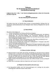 Satzung für die Erhebung einer Hundesteuer (Hundesteuersatzung)