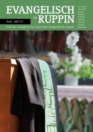 Gemeindeblatt lesen - Kirchenkreis Wittstock-Ruppin