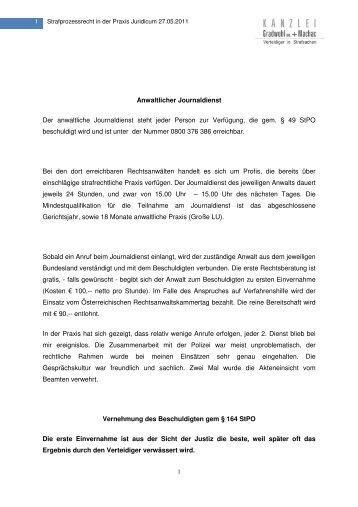 Anwaltlicher Journaldienst Der anwaltliche Journaldienst ... - Kanzlei