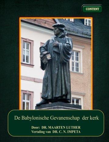 de babylonische gevangenschap der kerk - Geschriften van Maarten ...