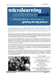 BERICHT ZUR KONFERENZ MICROLEARNING 2006, 08.-09. J ...