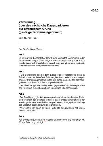 400.3 - rss.stadt-schaffhausen.ch - Stadt Schaffhausen