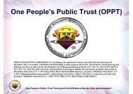 One People's Public Trust (OPPT) - Wordpress Wordpress
