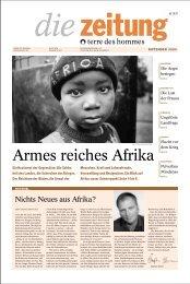 terre des hommes (Hg.): die zeitung. Armes reiches Afrika. 2000