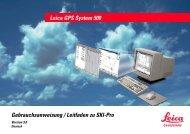 Leica GPS System 500 Gebrauchsanweisung / Leitfaden zu SKI-Pro
