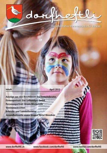 Das informative Monatsmagazin für Boniswil Das ... - dorfheftli