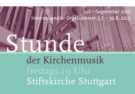 Stunde der Kirchenmusik - Programm Juli bis ... - Bach : vokal