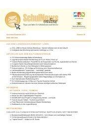 SchulNews online 39, November/Dezember 2013 - Ministerium für ...