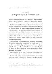 Computer als Gedächtnistheater - Peter Matusseks