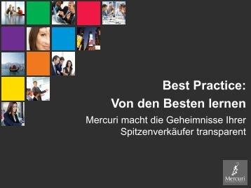 Best practice im Vertrieb - Von den besten lernen - mercuri.net ...