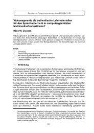 Hans W. Giessen Videosegmente als authentische Lehrmaterialien ...