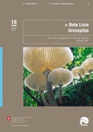 Rote Liste Grosspilze - Verein für Pilzkunde St.Gallen