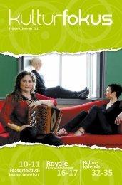 Kulturmagasin Kulturfokus forår/ sommer 2012 - Regionskontor