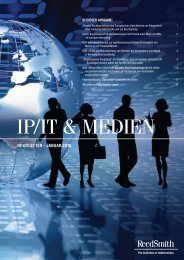 IP/IT & MEDIEN - Reed Smith