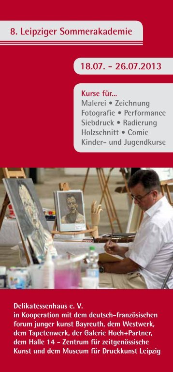 Broschüre Sommerakademie 2013 - Sommerakademie Leipzig