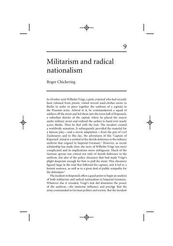 Militarism and radical nationalism