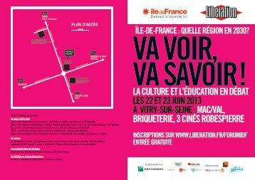 FLYER PROG RECTO 2 bd - Ile-de-France
