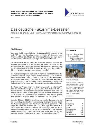 Das deutsche Fukushima-Desaster - AVES