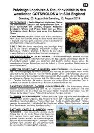 WESTLICHE COTSWOLDS - Gartenreisen Ulrike Kocher