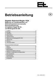 Betriebsanleitung - Erhardt+Leimer