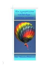 Sponsoring - Heissluft Ballonfahrten in der Ostschweiz