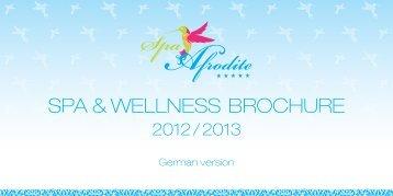 Brochure Spa Afrodite - Hotel Savoy Westend