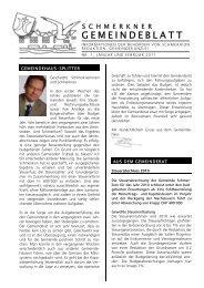 PDF: Gemeindeblatt: Januar/Februar 2011 - Gemeinde Schmerikon