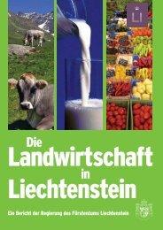 Broschüre Landwirtschaft - Landesverwaltung Liechtenstein