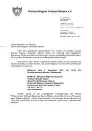 Rundschreiben 10 / 2012 - Richard Wagner Verband Minden eV