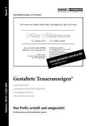 Gestaltete Traueranzeigen® - Traueranzeige, Todesanzeige, Pietaet