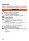 Warnhinweise - Verderair - Seite 5