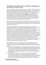 Offener Brief an die Studierenden der Psychologie – Stellungnahme ...