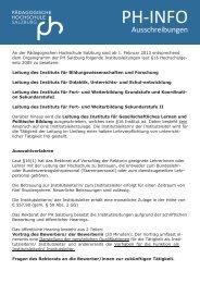 PH-INFO - Pädagogische Hochschule Salzburg