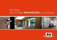 Telser Innentüren Prospekt - Schreinerei Marcel Kummer AG