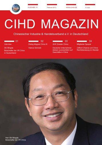 CIHD Magazin 19 02/2013 - Chinesischer Industrie- und ...