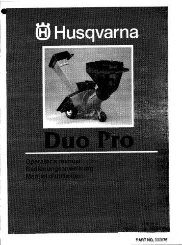 OM, Duo Pro, 1997-01 - Husqvarna