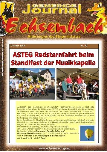 Gemeindejournal Nr. 70 Okt . 2007 (0 bytes) - Marktgemeinde ...