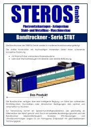 Bandtrockner - Serie STBT - Steros GmbH
