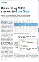 Bis zu 30 kg Milch stecken in 6 cm Gras (PDF, 3.0 MB) - Swissmilk