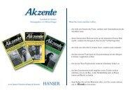 Mediadaten - Hanser Literaturverlage
