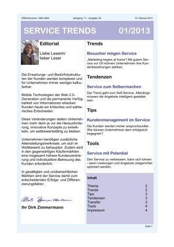 service trends 01/2013 - [iks] Institut für Kommunikation und ...