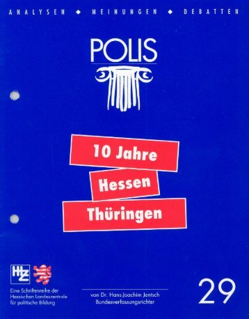 Polis 29 - Hessische Landeszentrale für politische Bildung