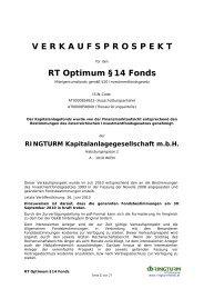 V E R K A U F S P R O S P E K T RT Optimum §14 Fonds - PrimeIT