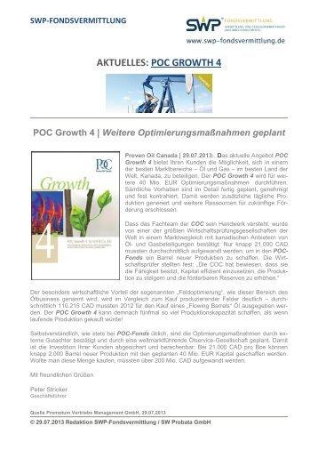 AKTUELLES: POC GROWTH 4 - SWP-Fondsvermittlung